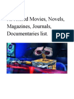 artificial intelligence list of movie , documentaries.pdf