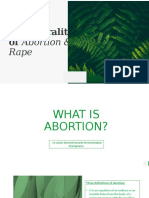 The Morality of Abortion & Rape