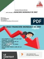 la crise économique mondiale de 2007