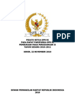 Pidato Pembukaan Masa Sidang II (22 Nov 2010)