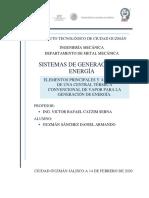 ELEMENTOS PRINCIPALES Y AUXILIARES DE UNA CENTRAL TÉRMICA CONVENCIONAL DE VAPOR
