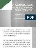 Las configuraciones electrónicas y el principio de construcción
