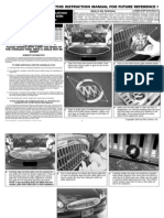 05 Buick Lacrosse Grille Installation Manual Carid
