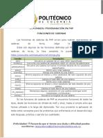 Módulo 1 PHP- Funciones de Cadenas