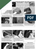 06 Up Hummer h3 Fender Flares Installation Manual Carid