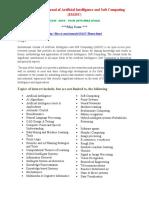 International Journal of Artificial Intelligence and Soft Computing (IJAISC)
