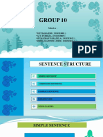 Group 10 ( Structure Sentence )