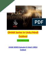 OMAR Series Urdu Hindi Dubbed Links