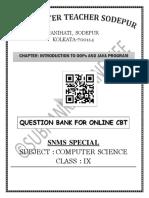 QUESTION BANK FOR CBT (CLASS IX ICSE) 2020