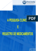 A PESQUISA CLÍNICA E O REGISTRO DE MEDICAENTOS_Dagobert Brandao.pdf