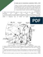 Cambio de aceite y ajuste de bandas para las transmisiones automaticas A