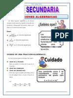 4TO DE SEC ALGEBRA TEMA 5 FRACCIONES ALGEBRAICAS