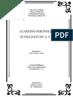LEARNING PORTFOLIOS IN FS456