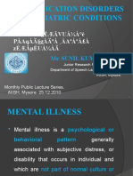 Communication Disorders in Psychiatric Conditions