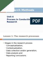 Research Methods - Unit 4