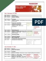 Program Agenda NASSCOM Product Conclave 2010