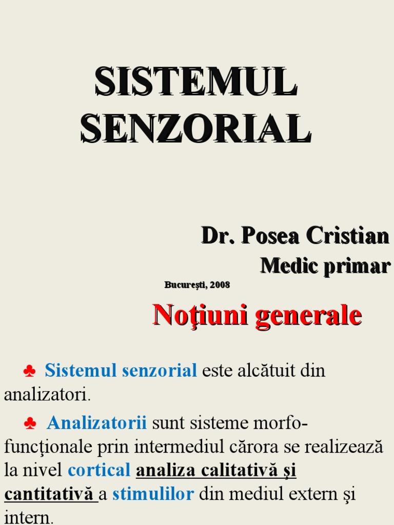 sistemul senzorial)
