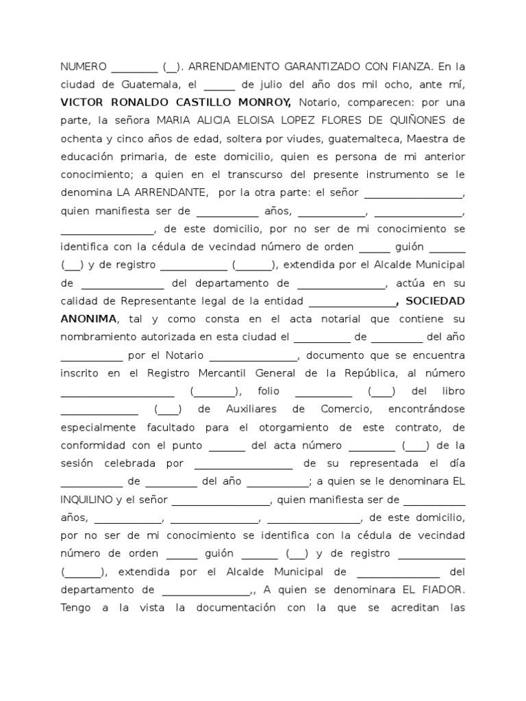 Contrato de arrendamiento av petapa 2008 for Contrato de arrendamiento de oficina