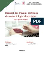 Rapport des travaux pratiques de microbiologie alimentaire.docx