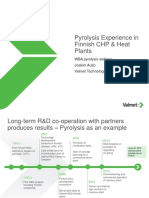 Pyrolysis Experience in Finnish CHP and Heat Plants - Joakim Autio, Valmet