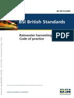 BS8515-2009 - Rain Water Harvesting