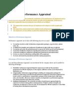 part- 1 performance appraisal