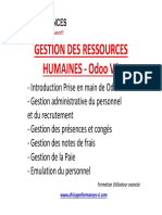 GESTION DES RESSOURCES HUMAINES - Odoo V8