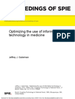 Optimizing the use of information