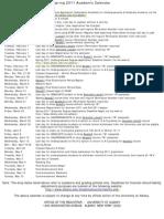 Academic Calendar Spring 2011(1)