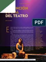 Funcion social del teatro
