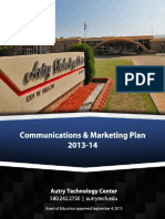 Communications - Marketing Plan 2013-14