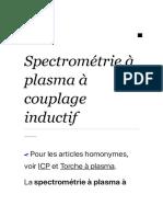 Spectrométrie à plasma à couplage inductif