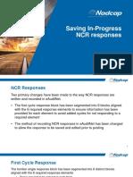 eAN enhancment 1042 Save In Progress NCR responses