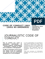 Code of Conduct 1993 (2002 as Amended