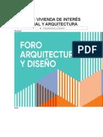 FORO VIVIENDA DE INTERES SOCIAL Y ARQUITECTURA