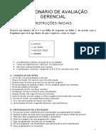 QUESTIONÁRIO DE Avaliação Gerencial abr 2015 correto