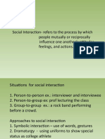 powepoint Social interaction and process
