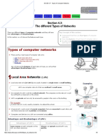 IGCSE ICT - Types of Computer Networks