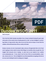 WSDC Dundee 2011 Newsletter 1 Final