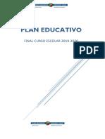 Plan educativo final de curso 2019 / 2020
