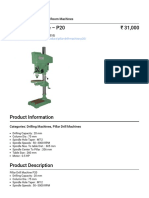 Banka Machine - Pillar Drill Machine – P20