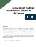 modelos matematicos toma desiciones