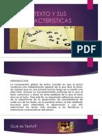 8.EL TEXTO Y SUS CARACTERISTICAS