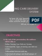 Nursing Care Delivery System (1)