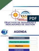 objetivos e indicadores de seguridad BASC - Oct 2019