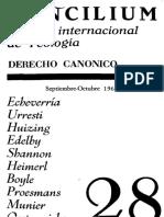 Revista Concilium 028 (1967) - Derecho canonico