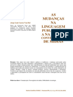 Mudanças na Comunicação Midiática