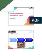 Module 1A - IB Environment-Cultural