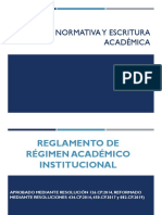 REGLAMENTO DE REGIMEN INSTITUCIONAL DE GRADO OCTUBRE 2019-FEBRERO 2020
