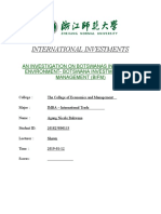 INTERNATIONAL INVESTMENTS- REPORT